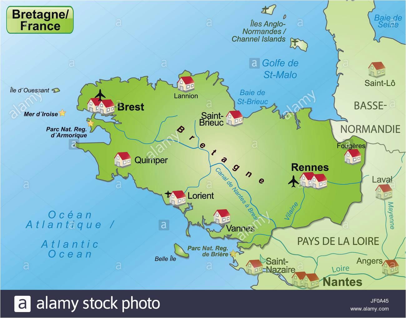 map of brest france stockfotos map of brest france bilder alamy