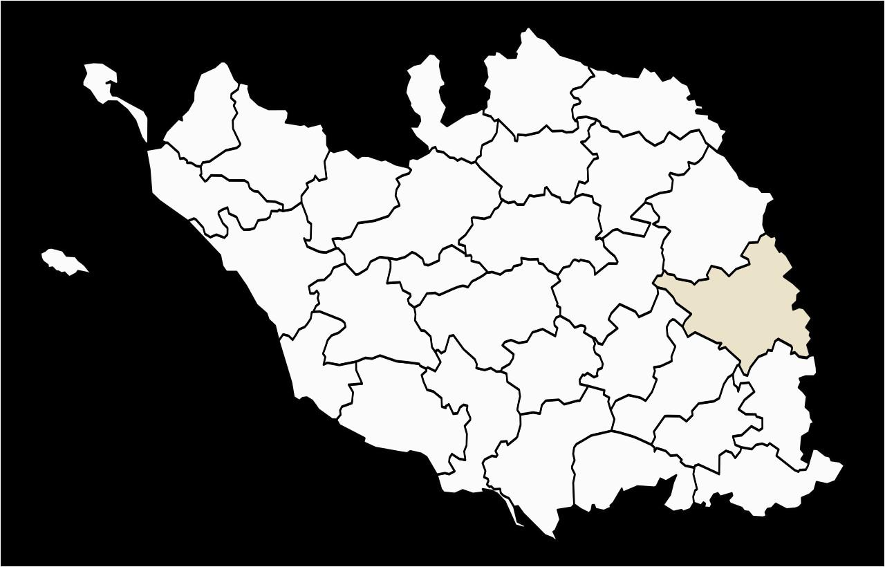 file locator map of the canton de la cha taigneraie in vendee 1979