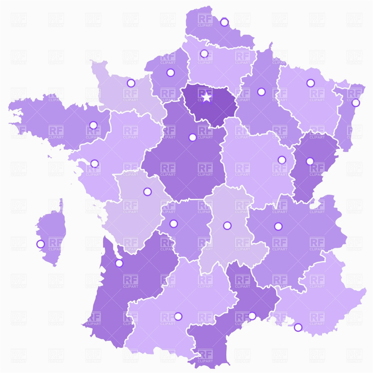 france administrative divisions stock vector image