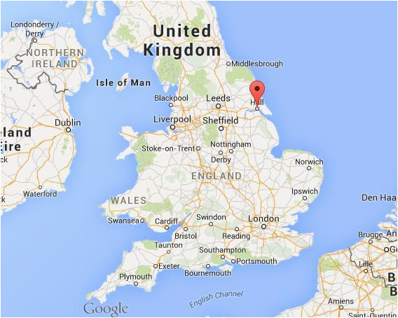 map of uk hull