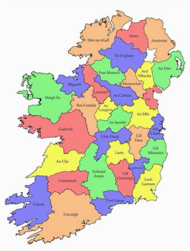 map of ireland in irish language download them and print