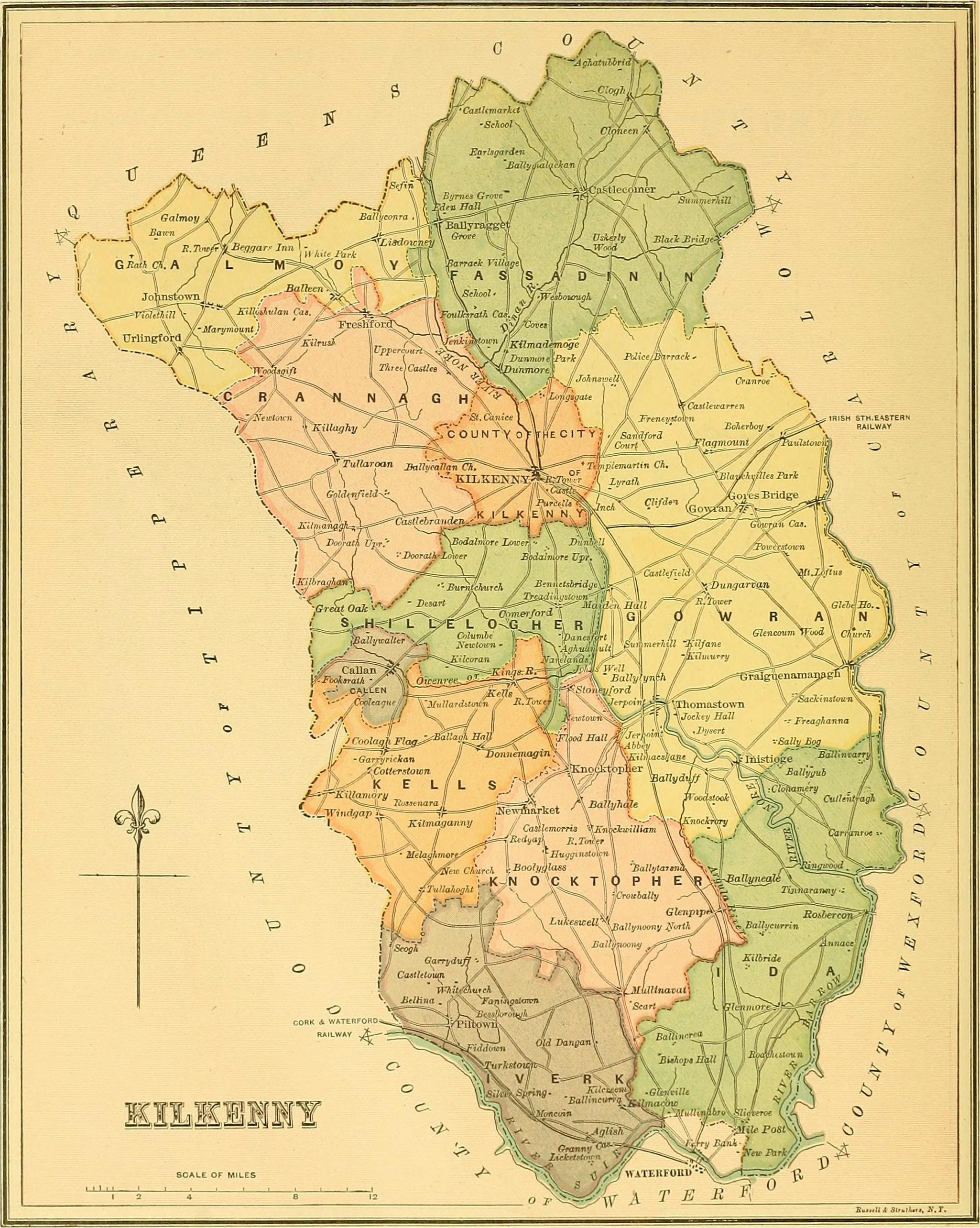 file ireland 1885 map of county kilkenny jpg wikimedia commons