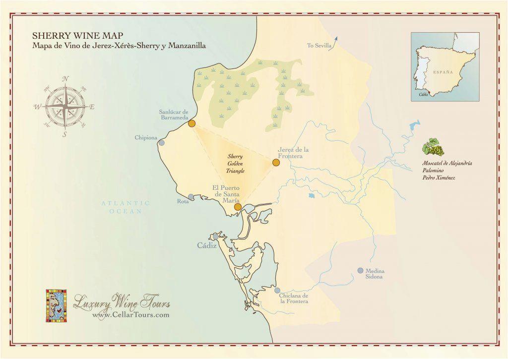 sherry wine region map wine regions in 2019 sherry wine
