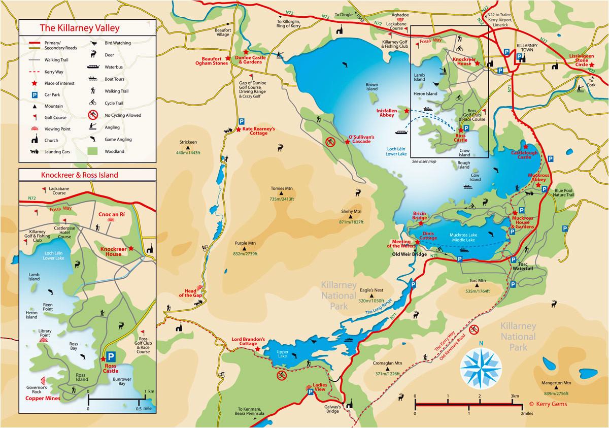 killarney map compressportnederland
