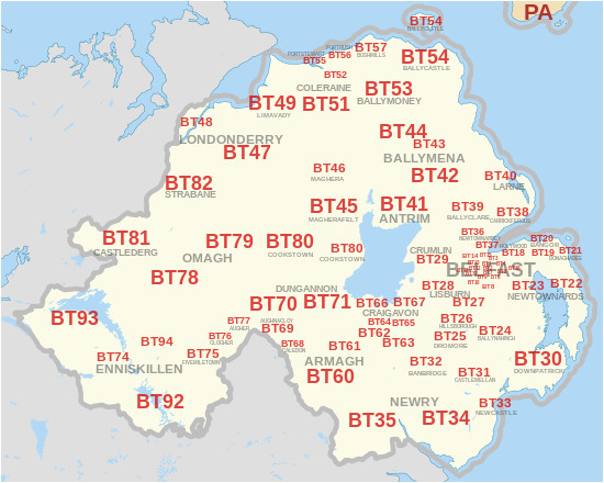 bt postcode area wikipedia