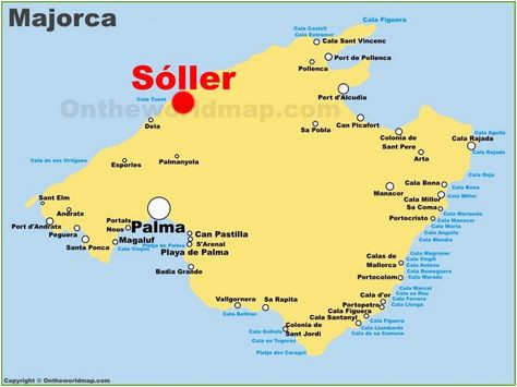 Map Of Majorca Spain Pinterest