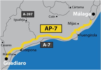 mediterranean motorway malaga a 7 versus ap 7