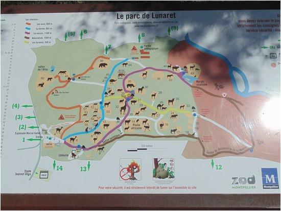 le plan picture of parc zoologique henri de lunaret