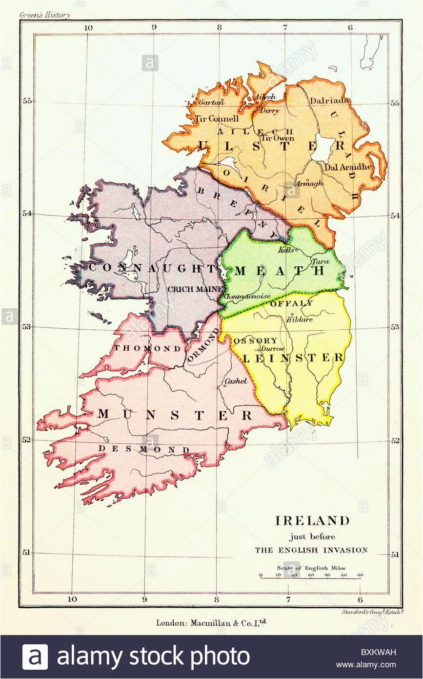 provinces map ireland stockfotos provinces map ireland bilder alamy