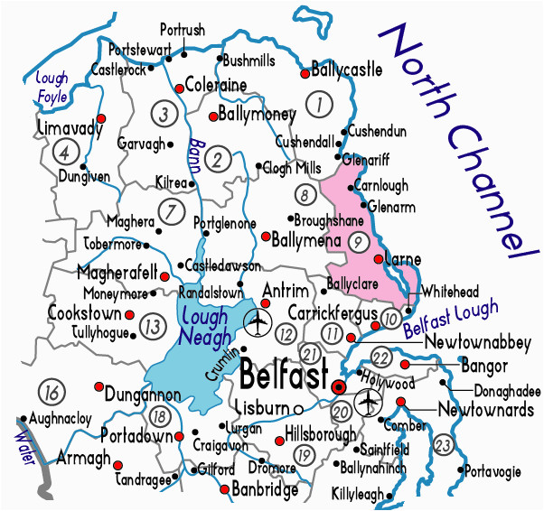 map of larne in northern ireland useful information about larne
