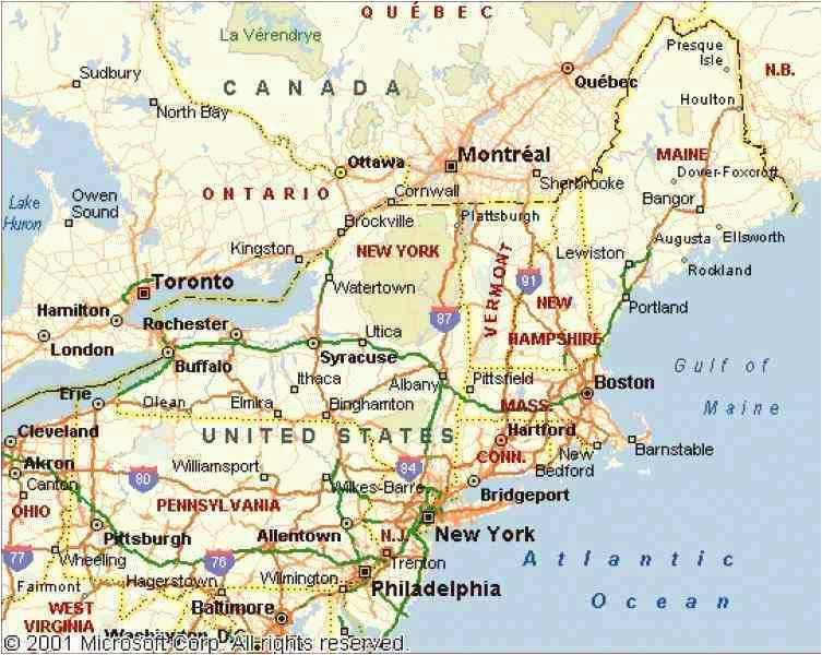 Map Of northeastern Us and Canada Map Of northeastern United ...