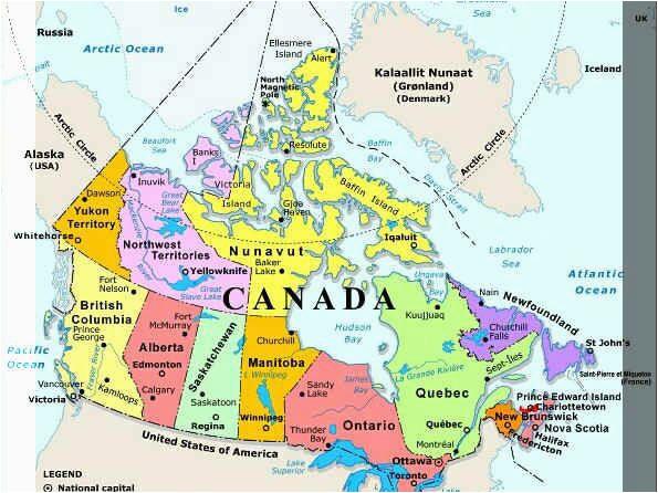 Map Of northern Canada Territories   secretmuseum