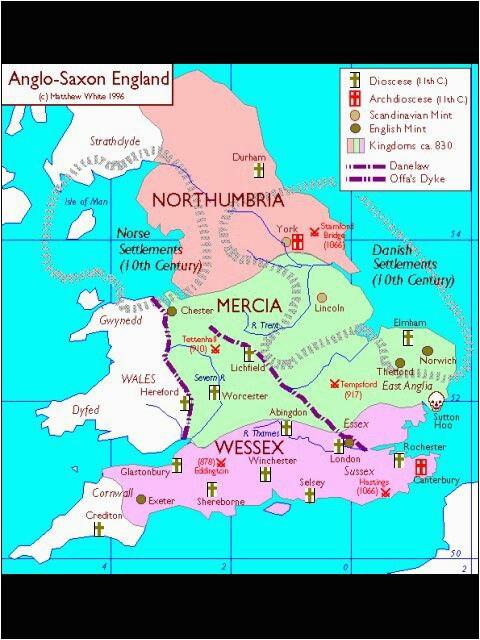 as england map northumbria