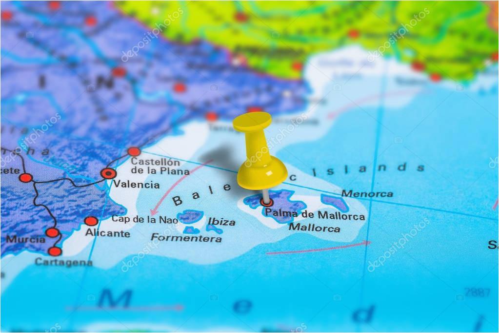 palma de mallorca spain map zdja cie stockowe a c bennymarty 129255132