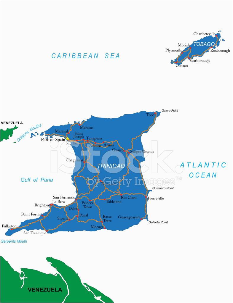 trinidad tobago karte stock vector freeimages com
