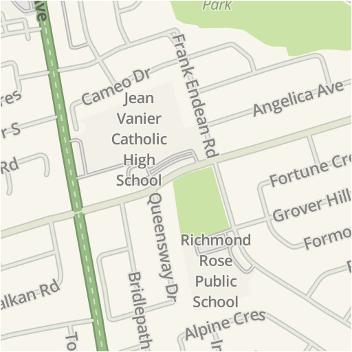 Map Of Richmond Hill Ontario Canada | secretmuseum Map Directions With Traffic on google maps traffic, road map with traffic, maps and traffic,