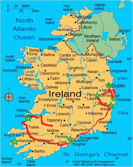 picturesque ireland follow shannon ireland ireland map