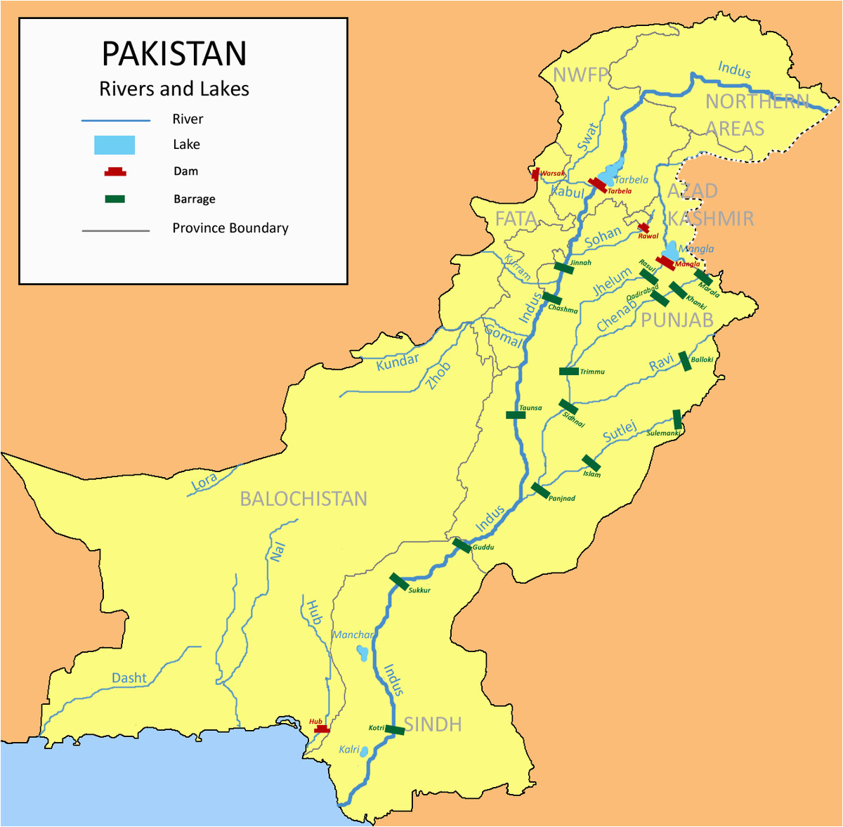 list of barrages and headworks in pakistan wikipedia