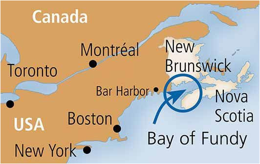 bay of fundy map showing the eastern seaboard new york
