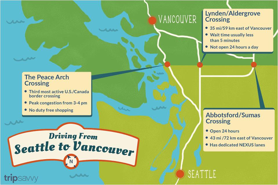 Map Of Seattle Washington to Vancouver Canada | secretmuseum