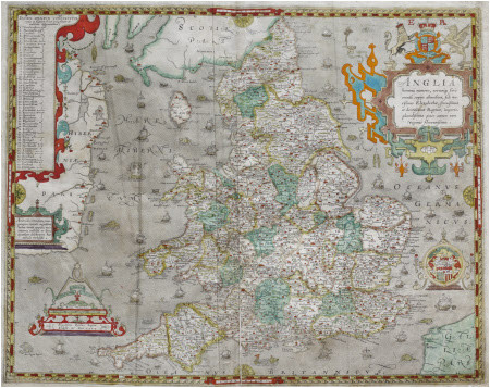 atlas of the counties of england and wales sponsored by t