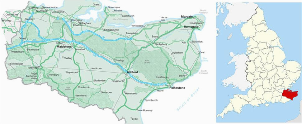 map of kent visit south east england