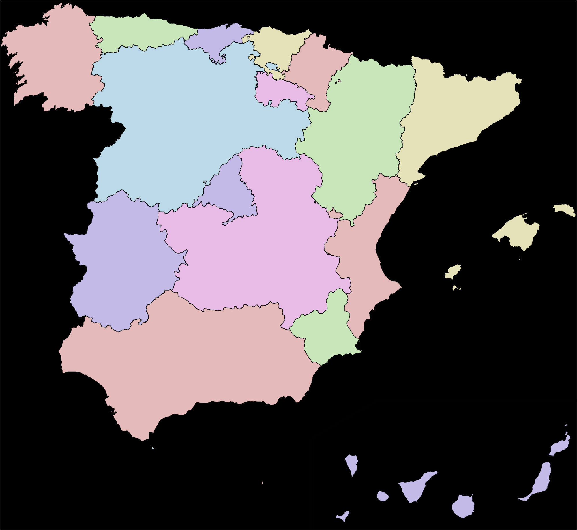 Map Of south Of France and Spain Spain Wikipedia