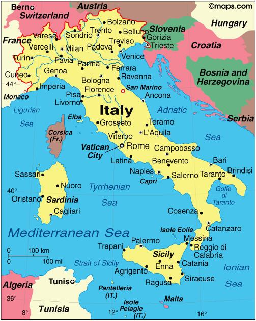 Map Of southeast France Venice On Italy Map Secretmuseum