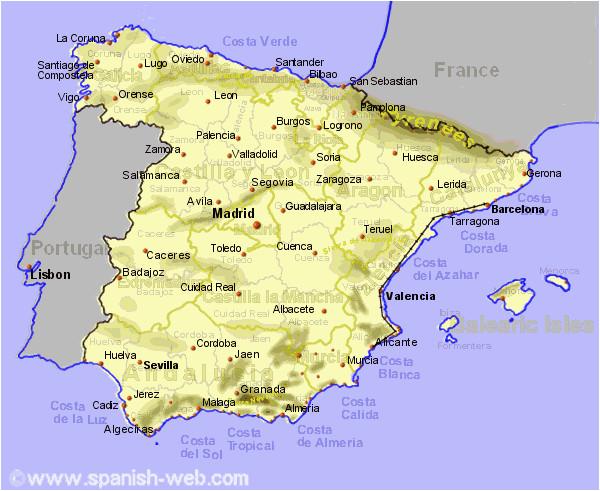 map of spain east coast twitterleesclub
