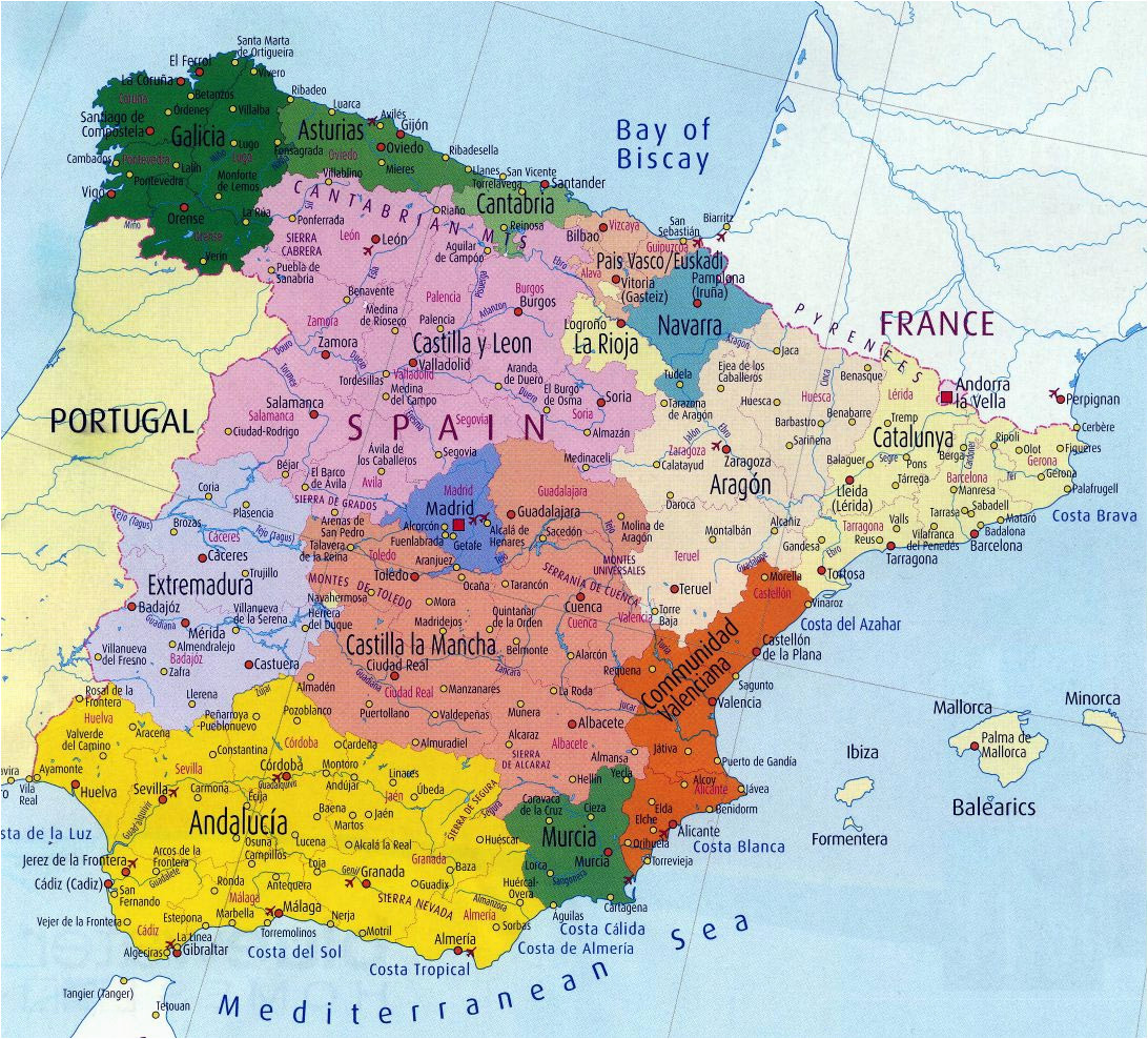 spain maps printable maps of spain for download