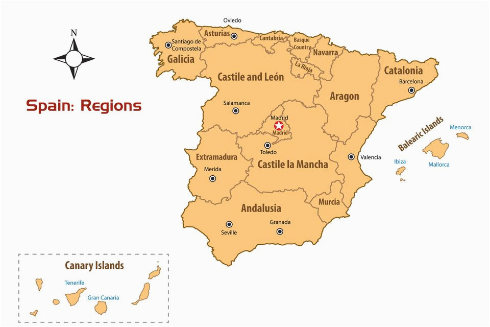 Map Of Spain Major Cities Regions Of Spain Map and Guide