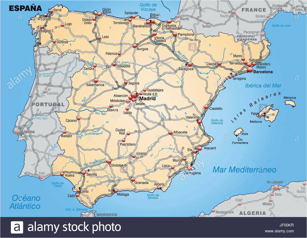 map od spain stock photos map od spain stock images alamy