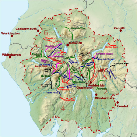 list of hill passes of the lake district wikipedia