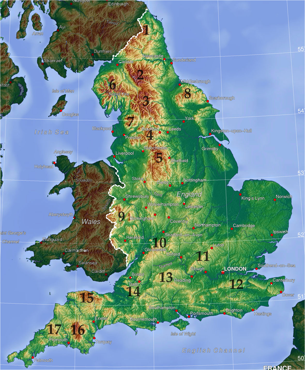 mountains and hills of england wikipedia