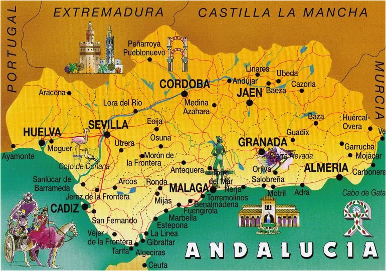 andalusia spain postcard exchange one world andalusia