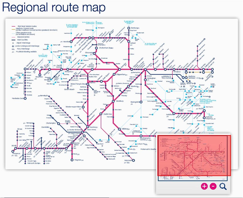 great western train rail maps