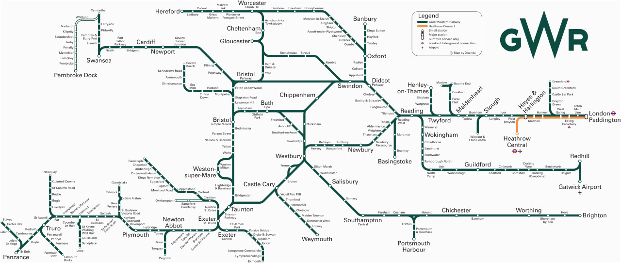 Map Of Train Stations In England Great Western Train Rail Maps
