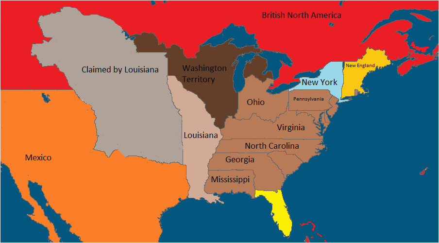 the united states and neighboring countries in 1860