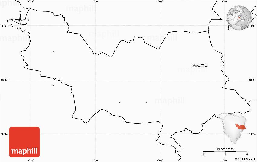 blank simple map of versailles