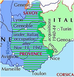 Map Of Vichy France Italian Occupation Of France Wikipedia