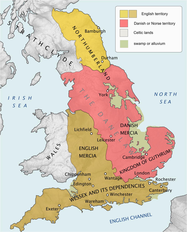 Map Of Viking Settlements In England Danelaw Wikipedia