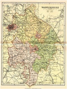 26 best warwickshire images in 2017 map old maps county map