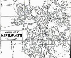 map of kenilworth warwickshire england genealogy coventry