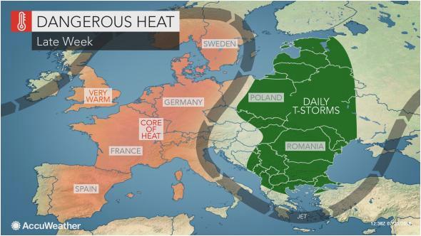 intense heat wave to bake western europe as wildfires rage in sweden