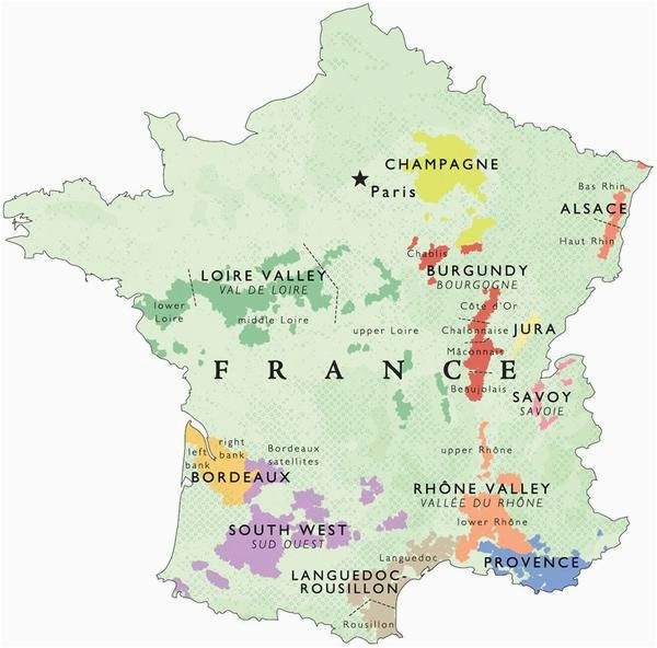 wine map of france in 2019 places france map wine