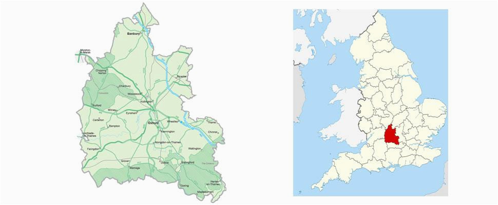 map of oxfordshire visit south east england