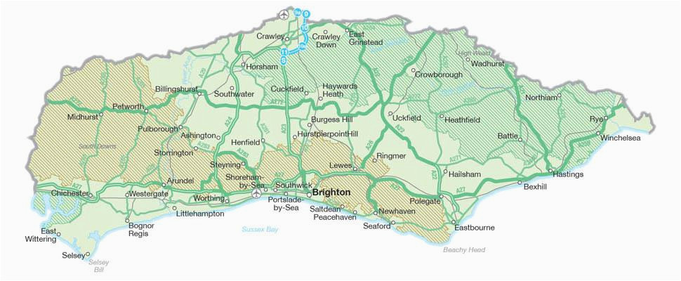 map of sussex visit south east england