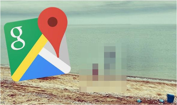 google maps street view creepy sight spotted on beach in russia