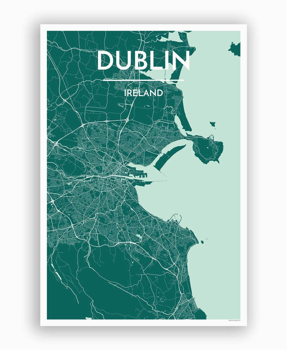 dublin map art print hang me up dublin map map art ireland map