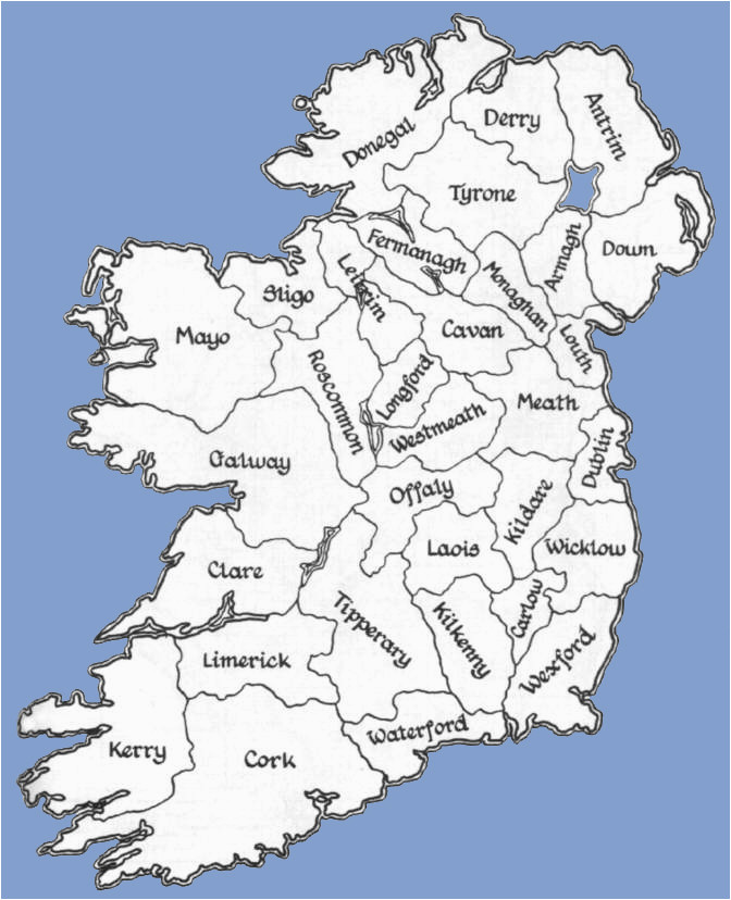 Maps Of Ireland Counties Counties Of the Republic Of Ireland